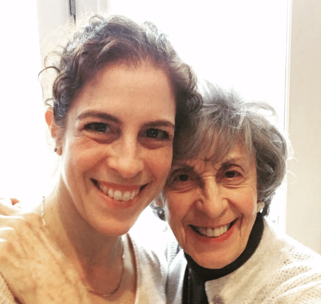 Sara Smeaton with her 93-year-old grandmother, Irene Goldstein.
