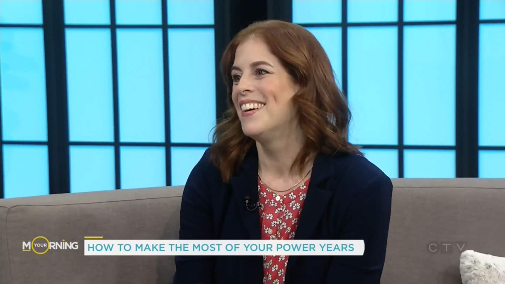 Sara Smeaton, Midlife Coach, on the CTV Morning news show.