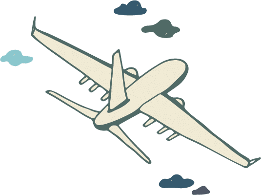 Passport-Icons_White Plane with clouds